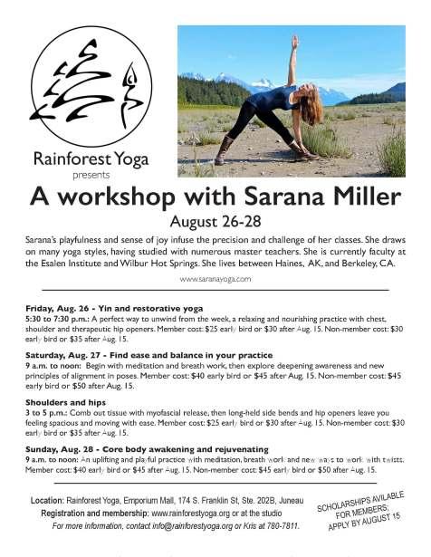 Sarana Miller Workshop Flyer Aug 2016